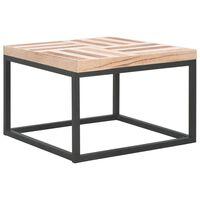 vidaXL tömör fa dohányzóasztal 50 x 50 x 33,5 cm