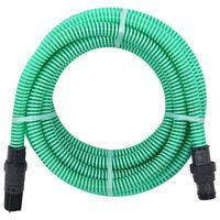 vidaXL zöld szívótömlő PVC csatlakozókkal 4 m 22 mm