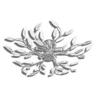 Átlátszó és fehér csillár akril kristály levél karokkal 5 db E14 izzó