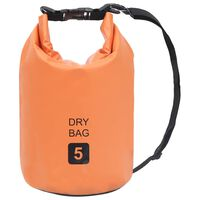 vidaXL narancssárga PVC szárazzsák 5 L