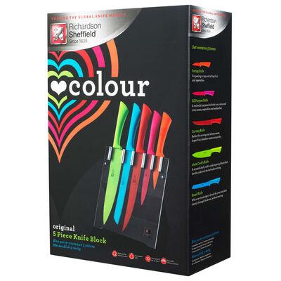 Richardson Sheffield Love Colour Original 5 db konyhai késtartó szett