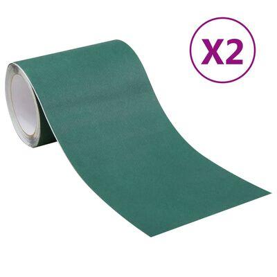 vidaXL 2 db zöld kétoldalas műgyepszalag 0,15 x 10 m