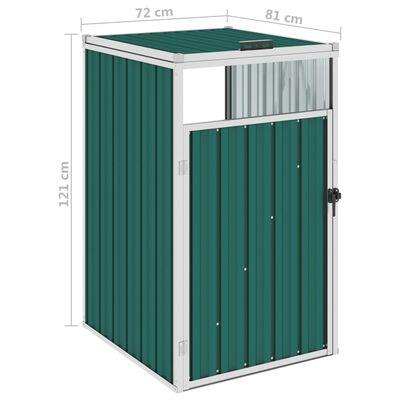 vidaXL zöld acél kukatároló 72 x 81 x 121 cm