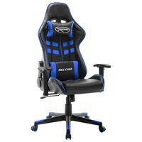 vidaXL fekete és kék műbőr gamer szék