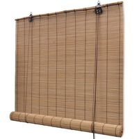 vidaXL barna bambuszroló 100 x 220 cm