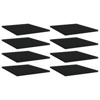 vidaXL 8 db fekete forgácslap könyvespolc 40 x 50 x 1,5 cm