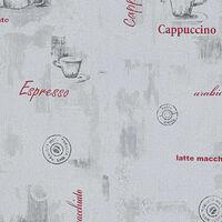 vidaXL 4 db fehér kávé mintás nem szőtt tapétatekercs 0,53 x 10 m