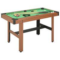 vidaXL barna biliárdasztal 122 x 61 x 76 cm