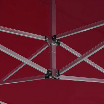 vidaXL bíbor összecsukható alumínium rendezvénysátor 4,5 x 3 m