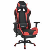 vidaXL piros dönthető versenyautó ülés alakú irodai szék lábtartóval