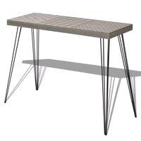 vidaXL 90x30x71,5 cm konzolasztal szürke