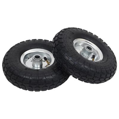 vidaXL 2 db molnárkocsi-kerék gumi 4.10/3.50-4 (260 x 83)
