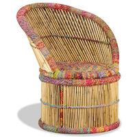 vidaXL Chindi díszes bambuszszék