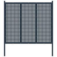 vidaXL antracitszürke acél kerítéskapu 177 x 200 cm