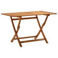 vidaXL tömör akácfa összecsukható kerti asztal 120 x 70 x 75 cm