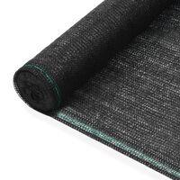 vidaXL fekete HDPE teniszháló 1,6 x 25 m