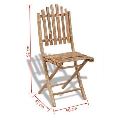 4 db összecsukható bambusz szék