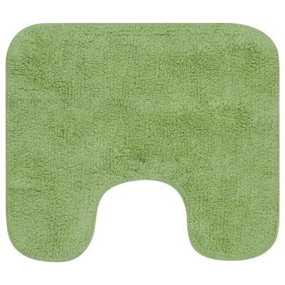vidaXL 2 darabos zöld szövet fürdőszobaszőnyeg-garnitúra, Zöld