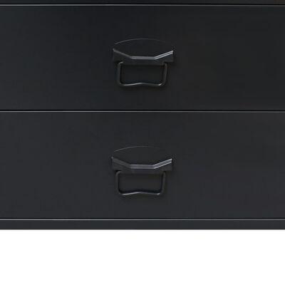 vidaXL ipari stílusú fekete fém fiókos szekrény 78 x 40 x 93 cm