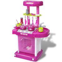 Gyerek játékkonyha fény és hangeffektussal rózsaszín