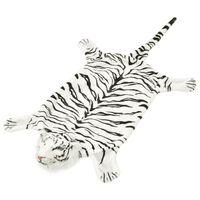 vidaXL fehér plüss tigris szőnyeg 144 cm
