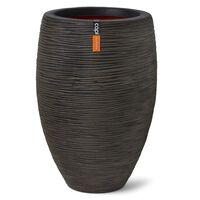 Capi Nature Rib Deluxe sötétbarna elegáns váza 45 x 72 cm