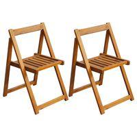vidaXL 2 db összecsukható tömör akácfa kerti szék