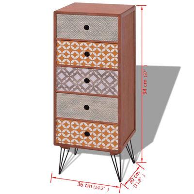 vidaXL 5 fiókos barna szekrény