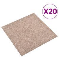 vidaXL 20 db bézs szőnyegpadlólap 5 m² 50 x 50 cm