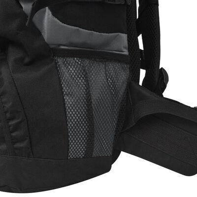 vidaXL XXL 75 literes túra hátizsák fekete és szürke