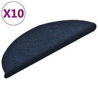 vidaXL 10 db kék tűlyukasztott öntapadó lépcsőszőnyeg 56 x 17 x 3 cm