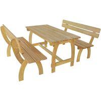 vidaXL impregnált fenyőfa sörasztal 2 paddal