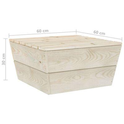 vidaXL 6 részes lucfenyő kerti raklap-bútorgarnitúra párnákkal