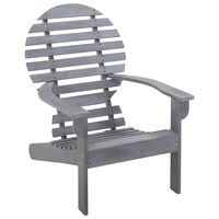 vidaXL szürke tömör akácfa Adirondack szék