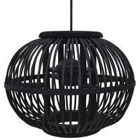 vidaXL fekete fűzfa gömb alakú függőlámpa 40 W 30 x 22 cm E27