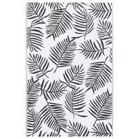 vidaXL fekete-fehér PP kültéri szőnyeg 120 x 180 cm
