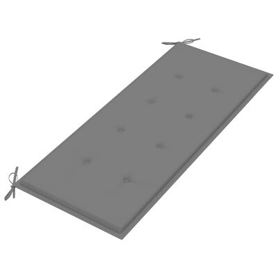 vidaXL tömör tíkfa kerti pad szürke párnával 240 cm