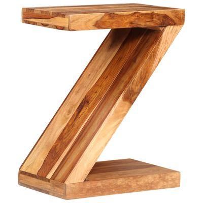 vidaXL Z-alakú tömör kelet-indiai rózsafa kisasztal