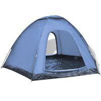vidaXL 6 személyes kék sátor