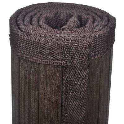 Bambusz fürdőszoba szőnyeg 60 x 90 sötétbarna