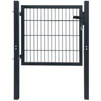 2D kerítés kapu 106 x 130 cm antracit zöld szín