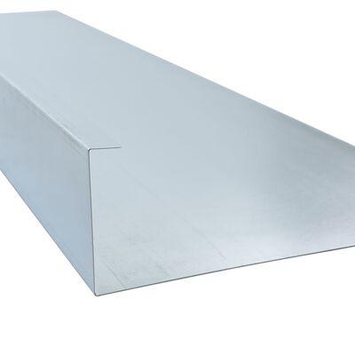 vidaXL horganyzott acél csigakerítés 444 x 25 cm
