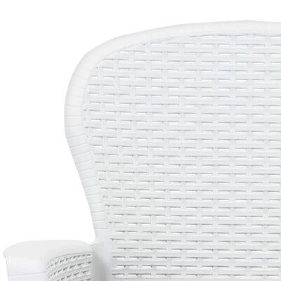 vidaXL 2 db fehér rattan hatású műanyag kerti szék párnával