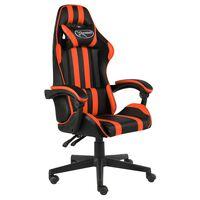 vidaXL fekete és narancssárga műbőr versenyszék