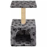 vidaXL szürke macskabútor szizál kaparófával 55 cm