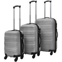 vidaXL 3 darabos kemény borítású utazó táska szett ezüst