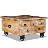 vidaXL nyers mangófa dohányzóasztal 70 x 70 x 40 cm
