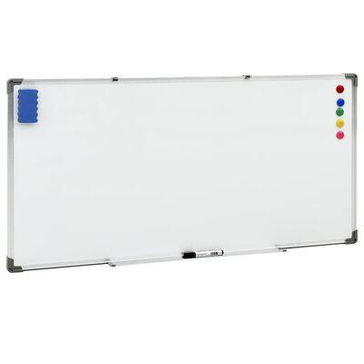 vidaXL fehér acél mágnestábla 110 x 60 cm
