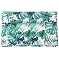 vidaXL zöld szövet kerti ülőpárna 120 x 80 x 10 cm