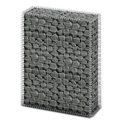 vidaXL gabion kosár fedéllel horganyzott drótból 100 x 80 x 30 cm